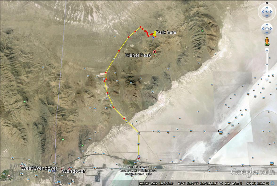 Rishel Peak driving map