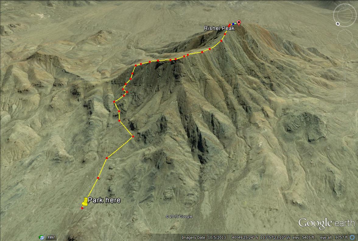 Rishel Peak trail map