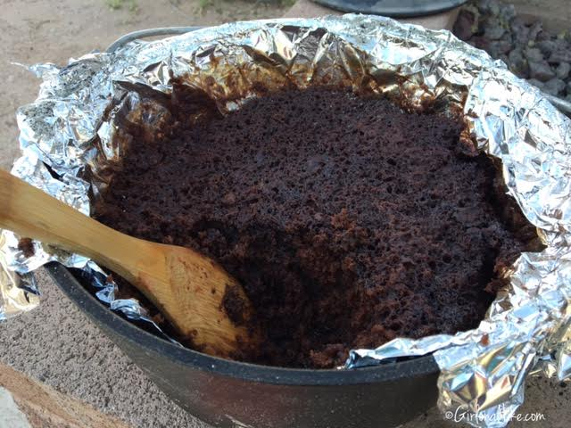 Hiking and Camping at Cathedral Gorge State Park, Dutch Oven Chocolate Cake