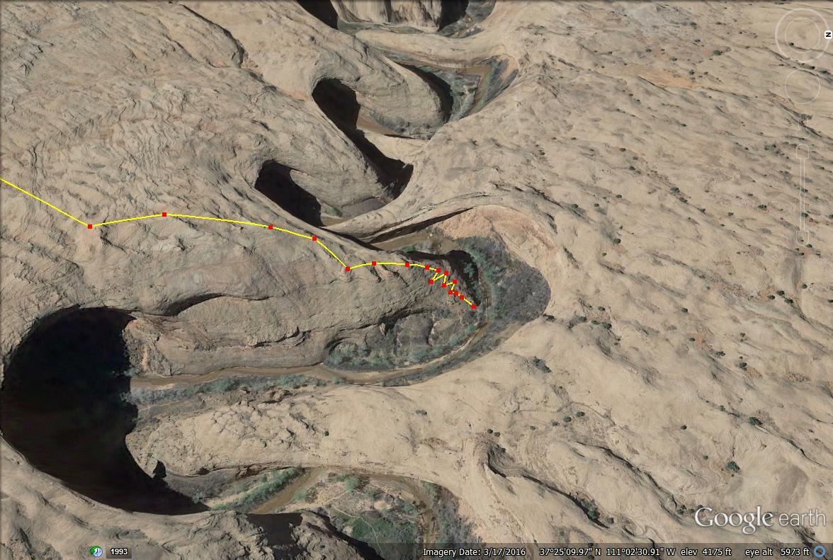 Coyote Gulch Trail map