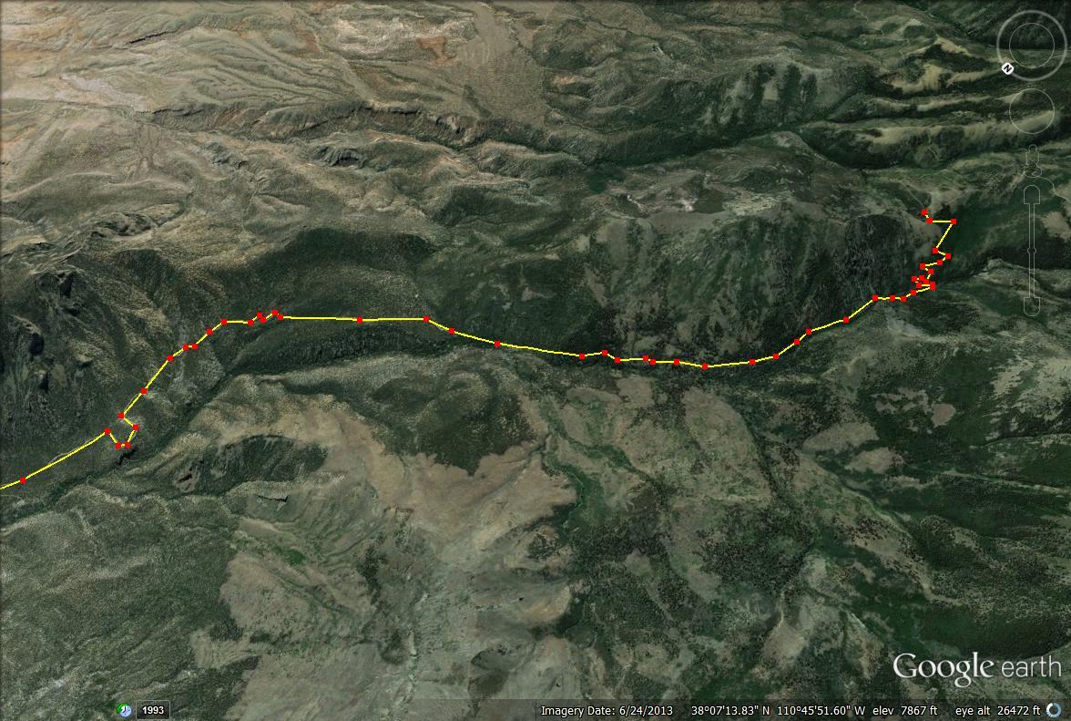 Mount Ellen trail map