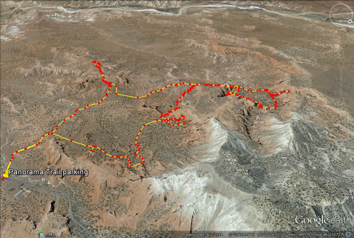 Kodachrome Basin State Park, Panorama Trail map