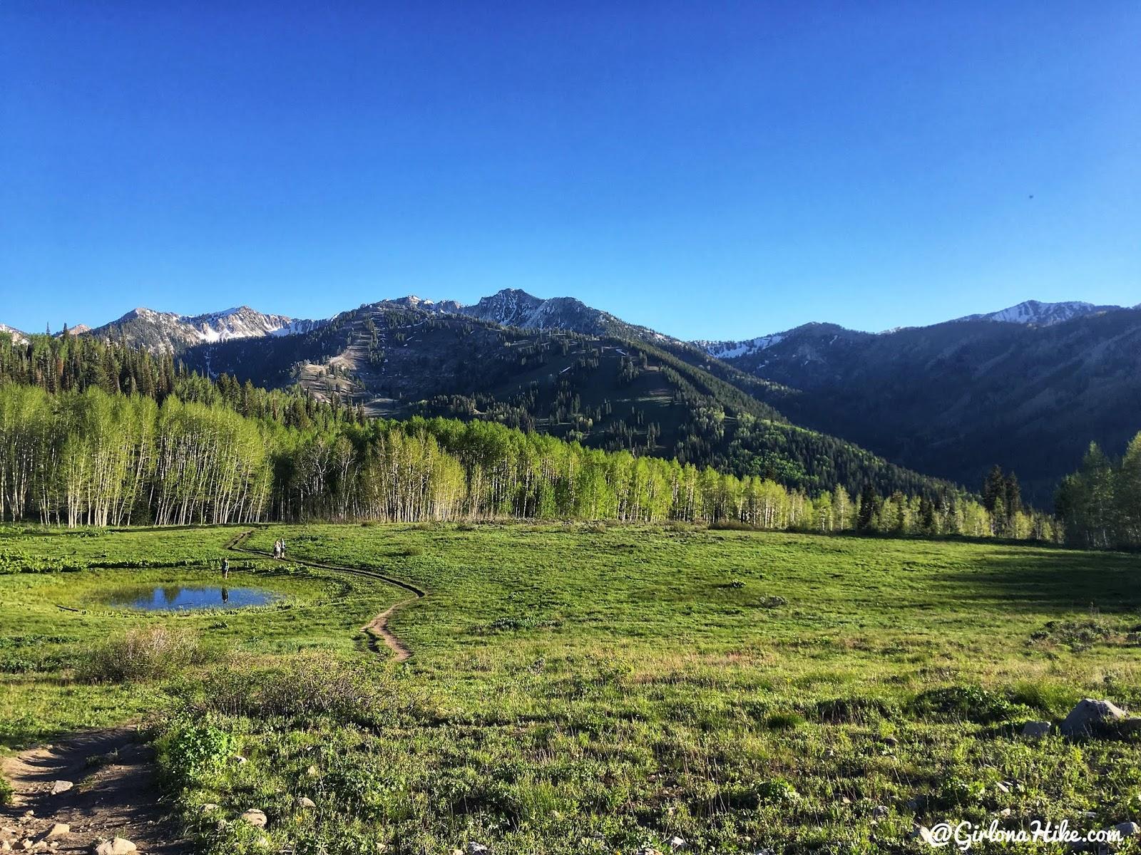 Hiking to Willow Heights Lake, Big Cottonwood Canyon, Utah