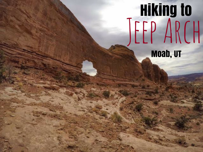 Hiking to Jeep Arch, Moab