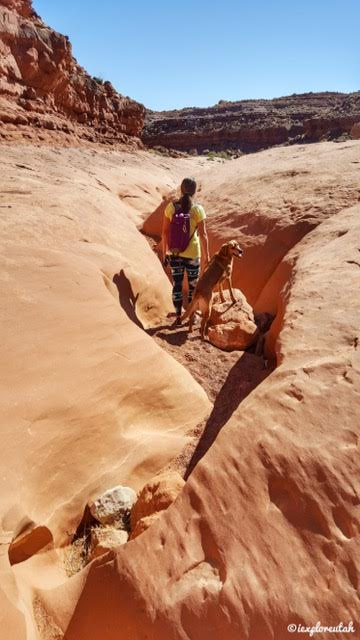 Hiking the Moonshine Wash Slot Canyon San Rafael Swell