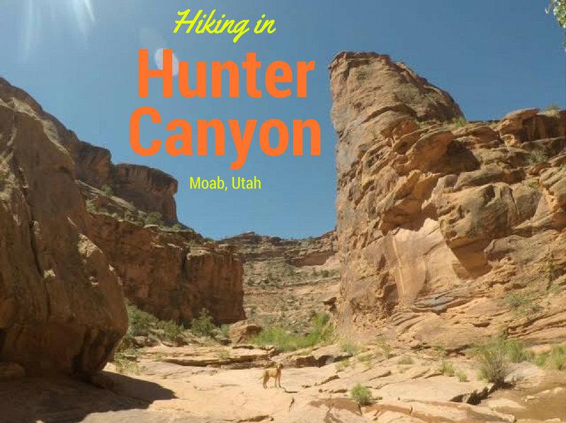 Hiking in Hunter Canyon, Moab