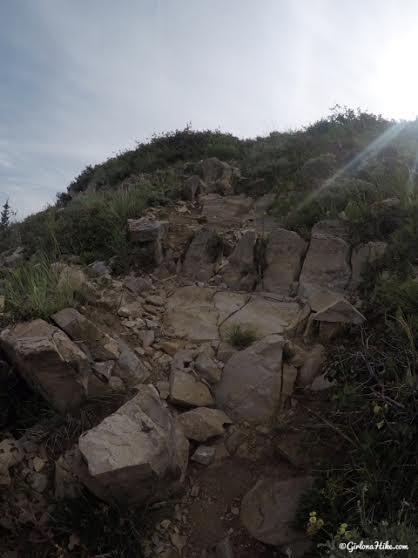 Hiking to Provo Peak