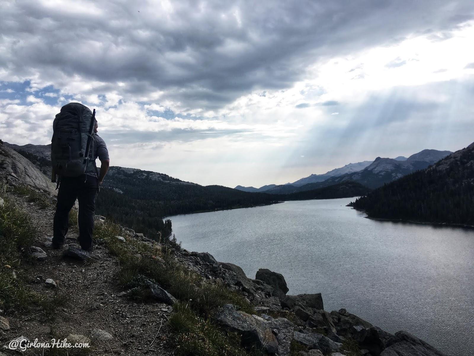Backpacking to Mt. Hooker & Baptiste Lake, Wind River Range, Grave Lake