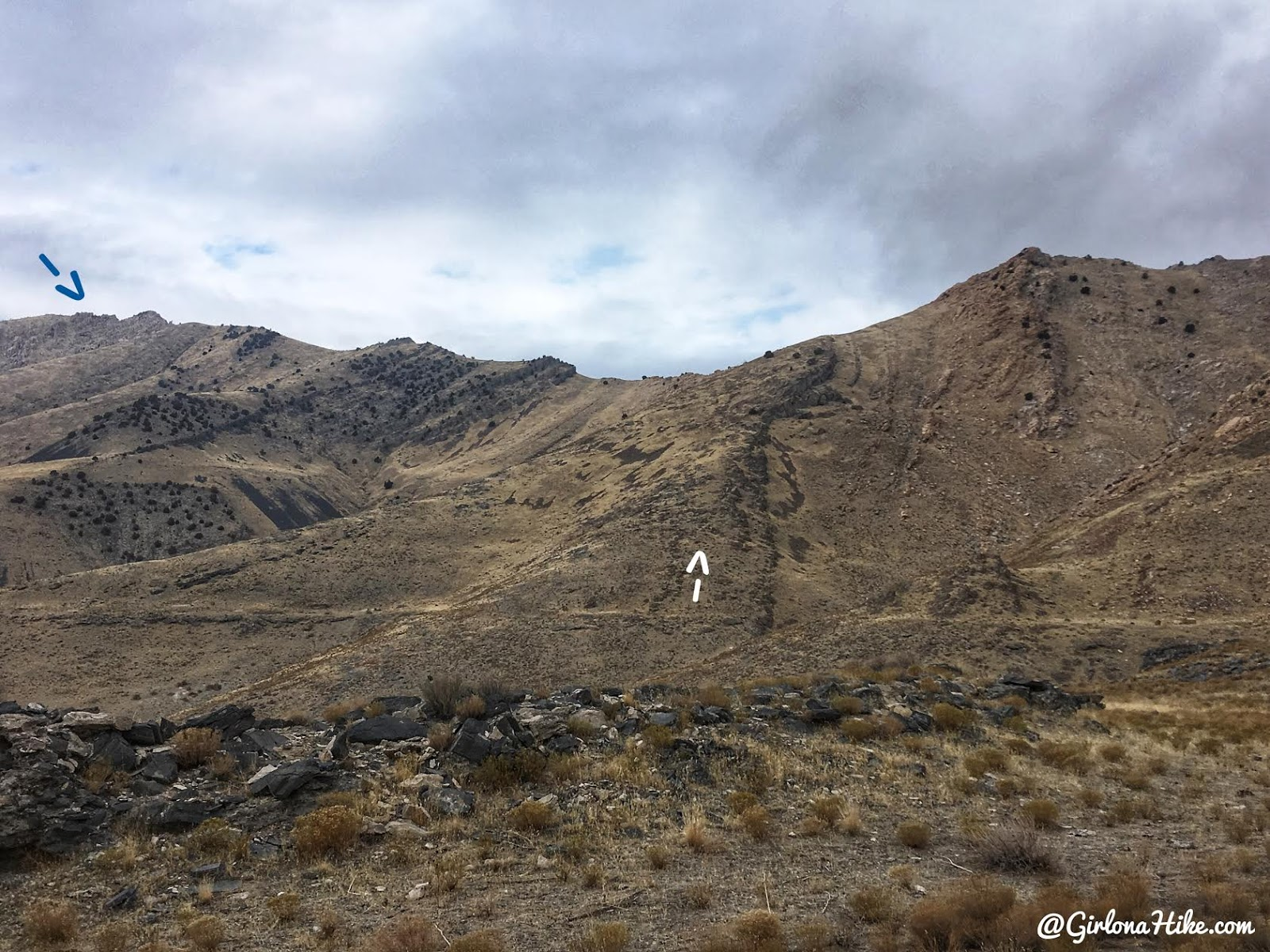 Hiking to Castle Rock, Stansbury Island