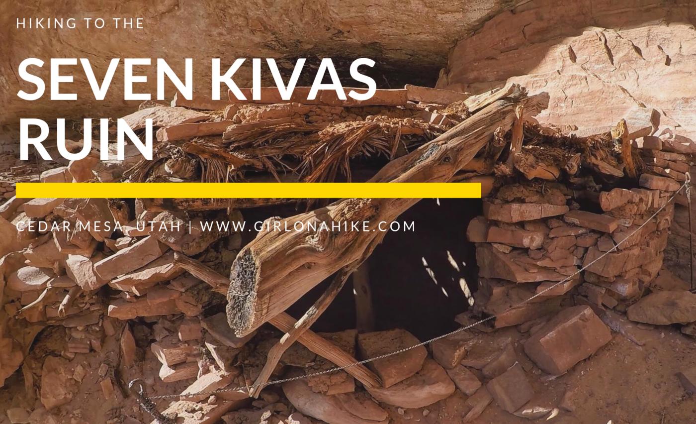 Hiking to the Seven Kivas Ruin, Cedar Mesa