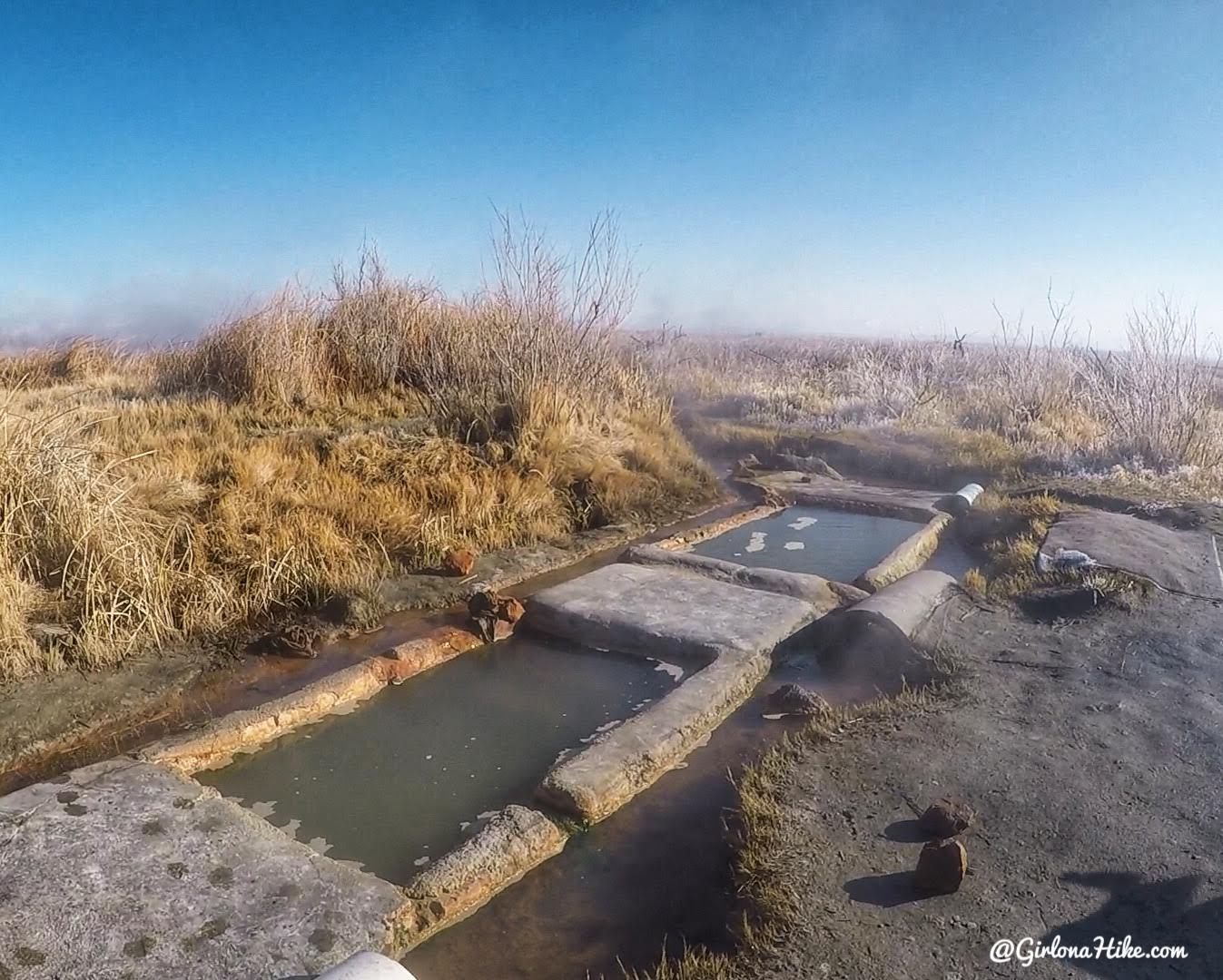 Soaking at Baker Hot Springs, Utah