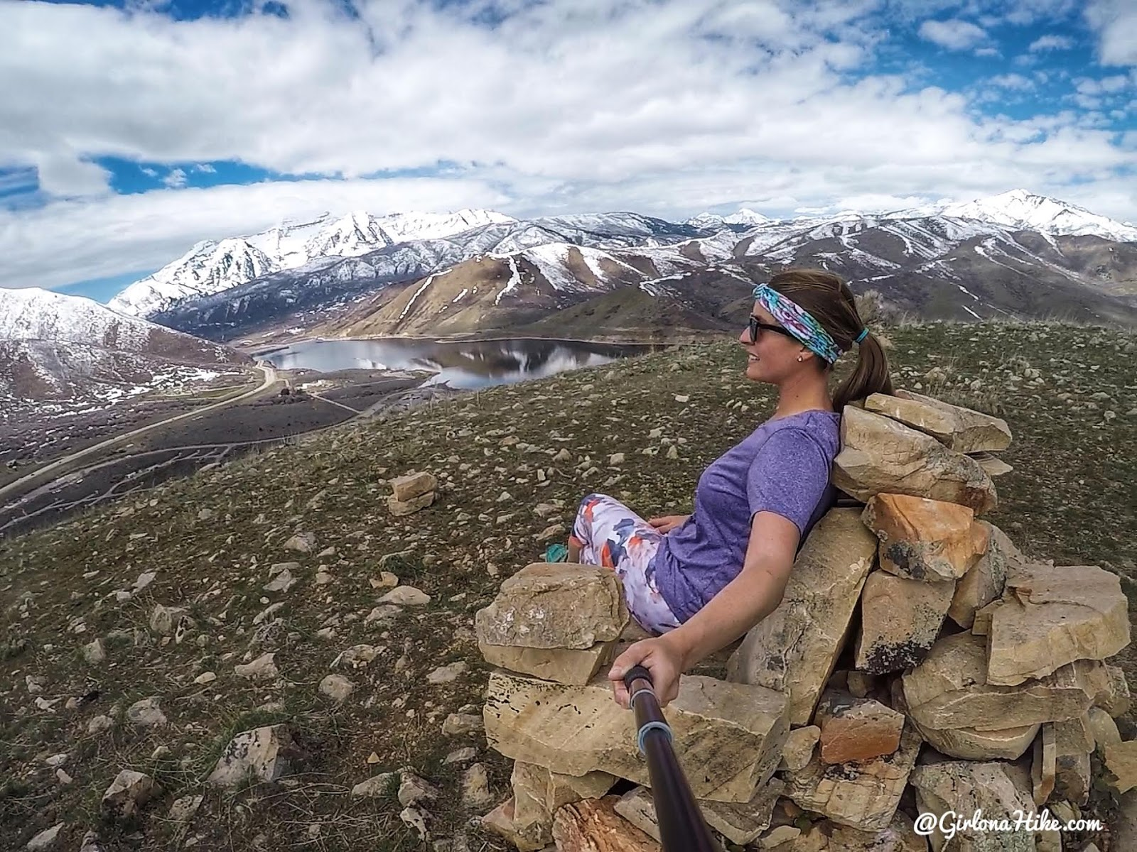 Hiking to Chair Peak, Deer Creek Reservoir