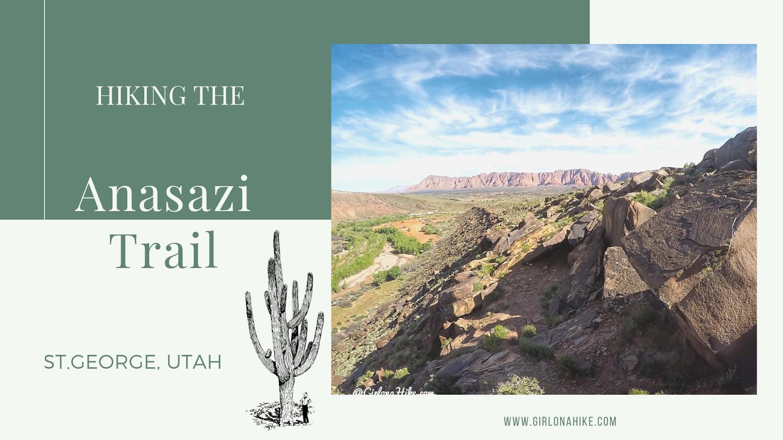 Hiking the Anazasi Trail (Tempi'po'op), St.George, Utah