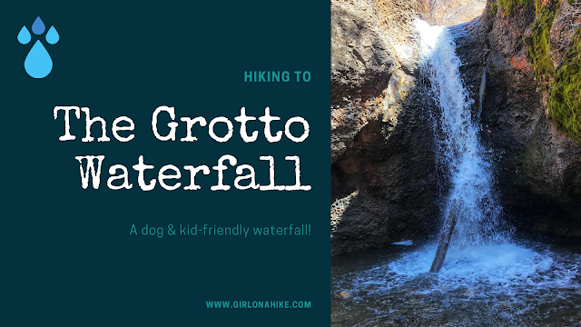 Hiking to the The Grotto Waterfall - Nebo Loop Road