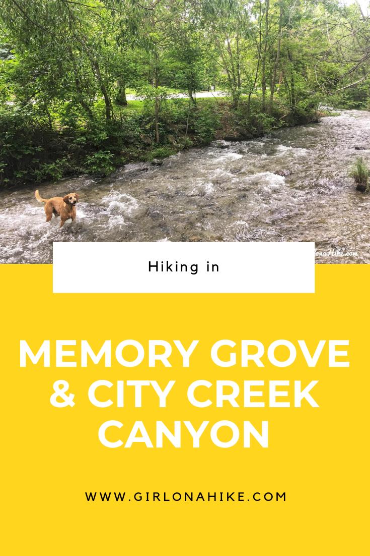 Hiking in Memory Grove Park & City Creek Canyon, Utah