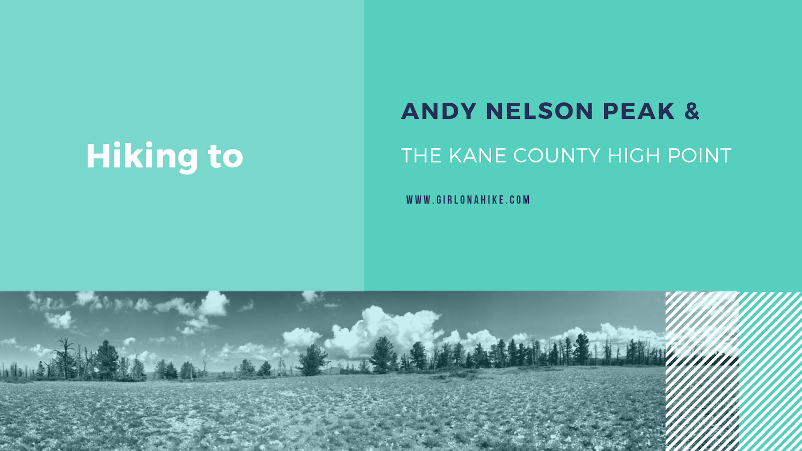 Hiking to Andy Nelson Peak & the Kane County High Point