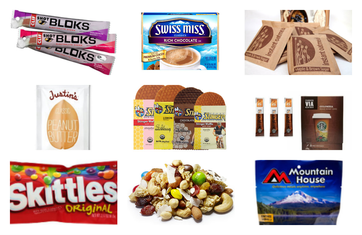 Backpacking Gear List, backpacking food