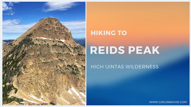 Hiking to Reids Peak, High Uintas