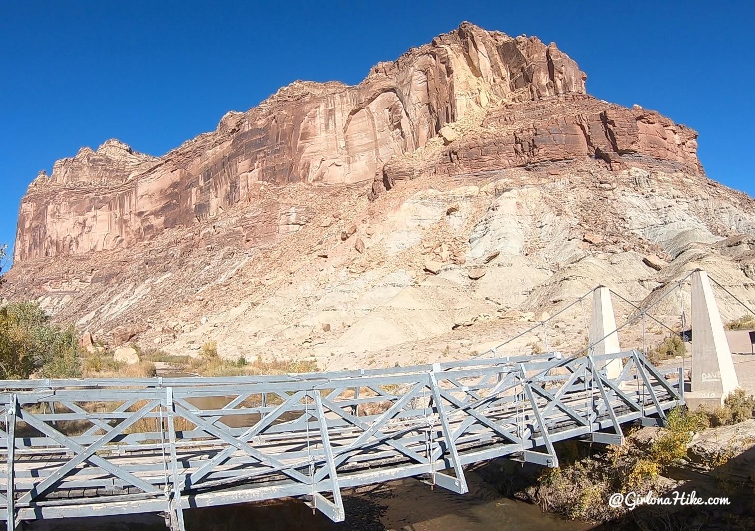 Camping & Exploring The Wedge Overlook, San Rafael Suspension Bridge