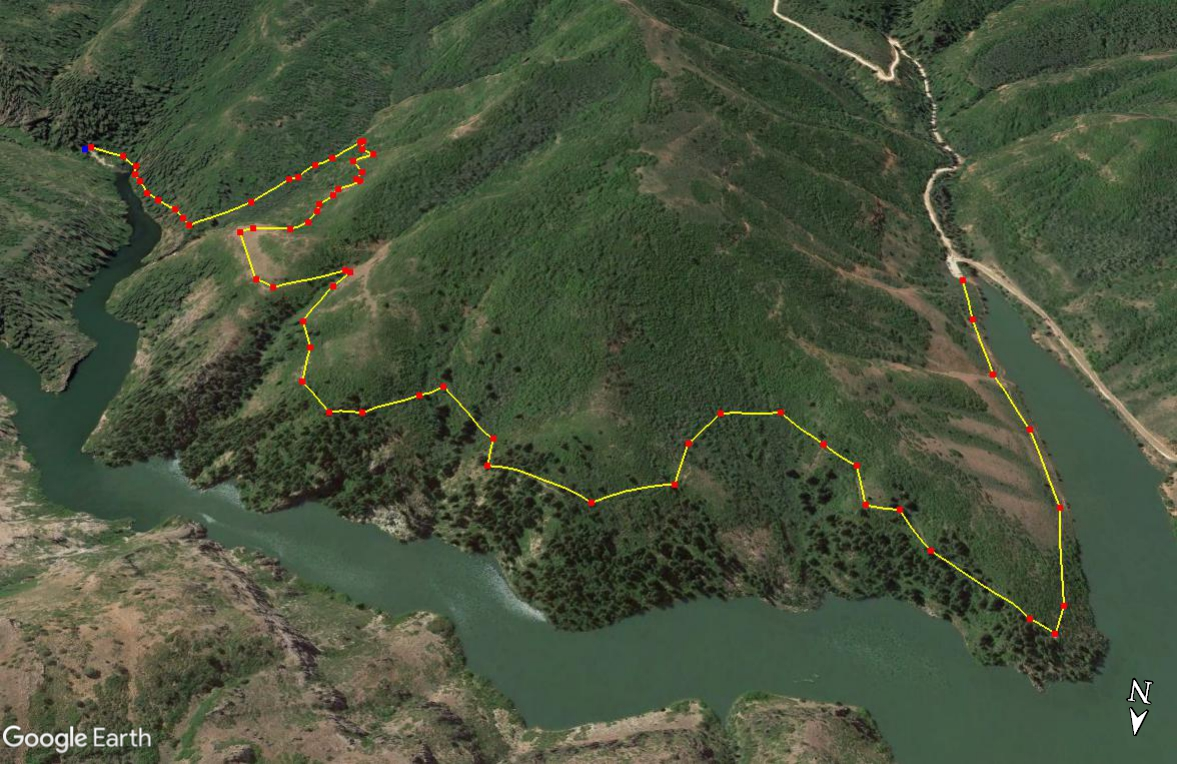 Hiking the Skull Crack Trail, Causey Reservoir trail map