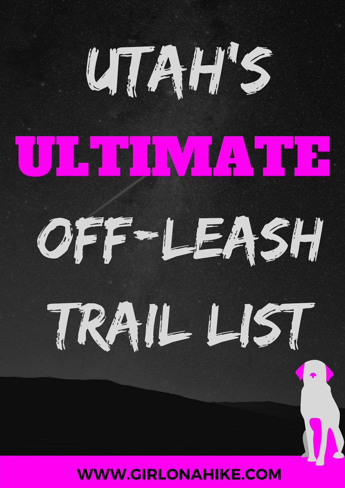 Utah Off Leash Trail List