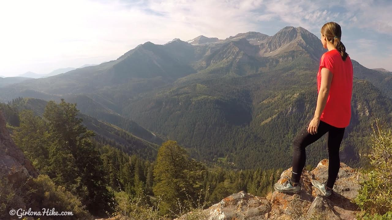 Hiking to the Pine Hollow Overlook, American Fork Canyon