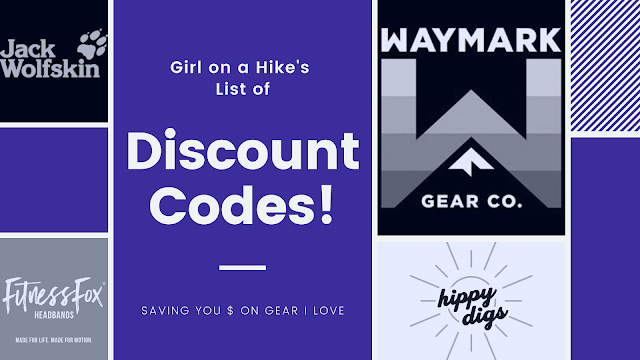 """""""Girl on a Hike"""" List of Discount Codes!"""