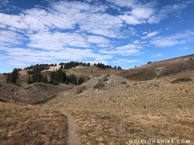 Hiking to Blue Lake, Tushar Mountains