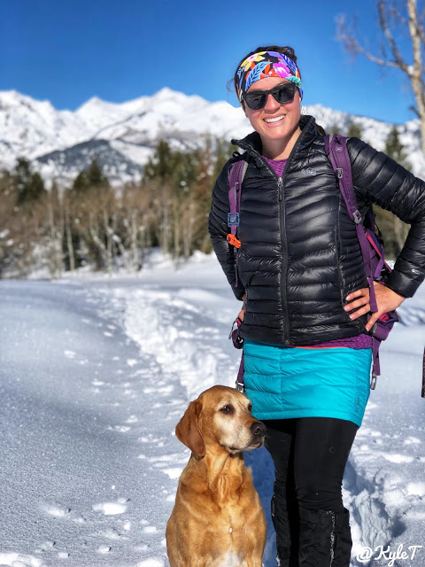 What to Wear while Hiking in Winter - For Women!, Skhoop Mini Down Skirt