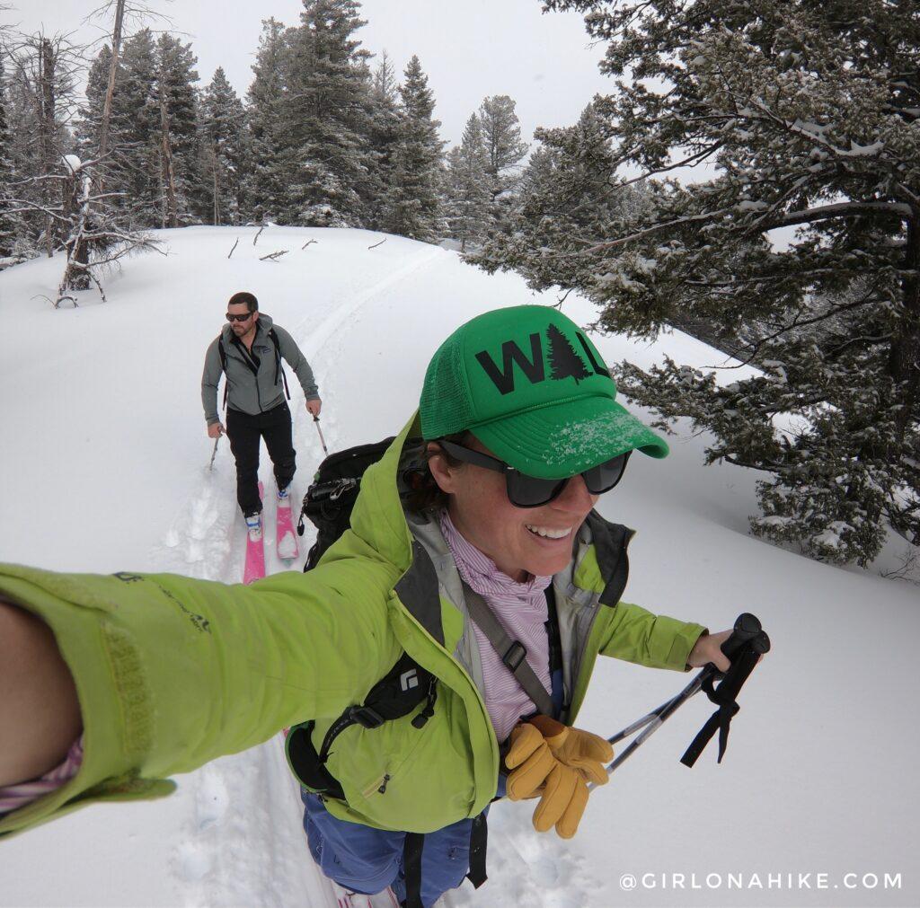 Lodging at the Yur-Treat in Idaho + Backcountry Skiing!