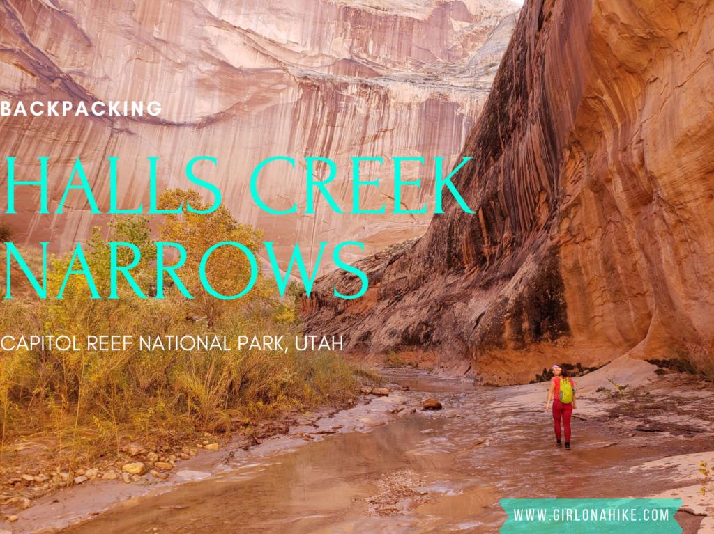 Backpacking Halls Creek Narrows