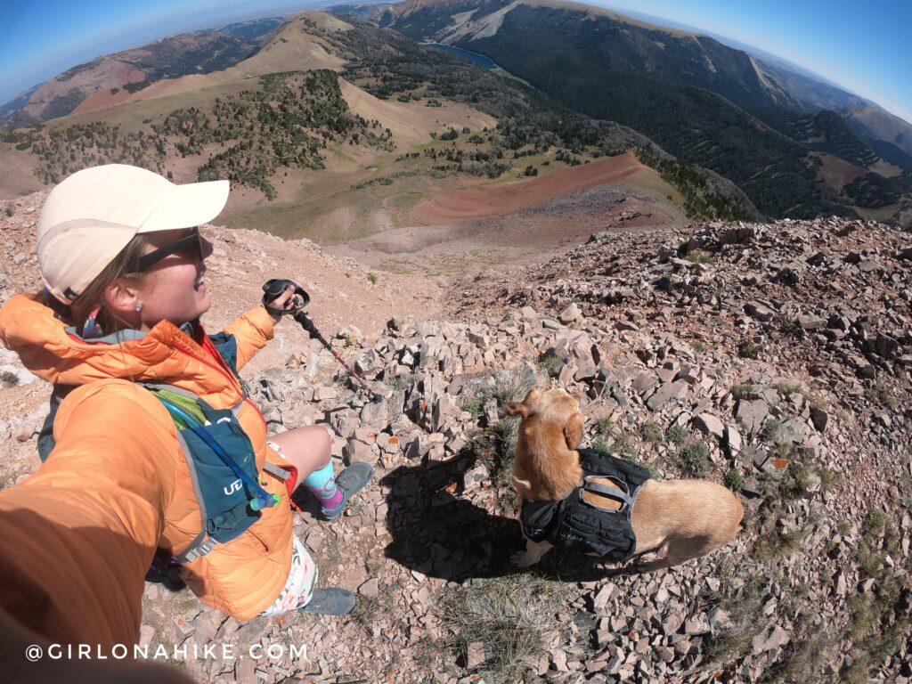 Hiking to Wyoming Peak, Wyoming Mountain Range